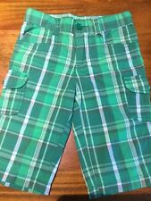 NWT THE CHILDREN'S PLACE TODDLER GREEN PLAID BERMUDA PANTS 3T