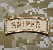 SNIPER TAB TACTICAL USA ARMY MORALE MILITARY BADGE INFIDEL DESERT VELCRO PATCH