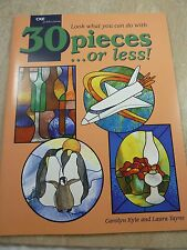 30 Pieces or less! Stained Glass/Leadlight Book