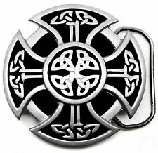 Celtic Shield Belt Buckle Knot & Cross Authentic Branded Great American Products