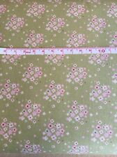 1 x Fat Qtr Jean Olive 100% Cotton Tilda Quilt Fabric Sewing/Quilting