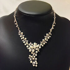 Genuine Cultured Freshwater Pearl 5-8mm 16-18 inch Wedding Bride Pearl Necklace