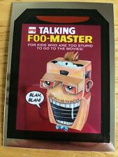 2014 WACKY PACKAGES CHROME CUTTING ROOM FLOOR CARD TALKING FOO-MASTER 3 17TH