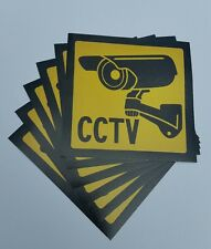 VIDEO SURVEILLANCE Security Decal  CCTV  Warning Sticker (4x4in )set of 6
