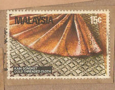 Ori mounted on envelope Gold Thread songket stamp:  15c