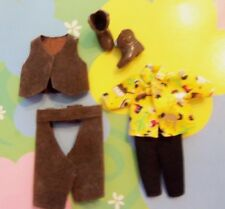 Kelly Tommy Ryan Doll Clothes Outfit *Western Cowboy Chaps Vest Boots/Shoes* (k)
