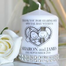 personalised wedding Favours Large candles shabby chic + FREE GIFT vintage