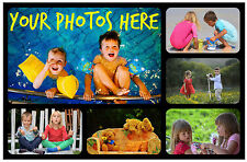 6 x PERSONALISED PHOTO FRIDGE MAGNETS - WITH YOUR OWN PHOTOS - GREAT GIFT / XMAS