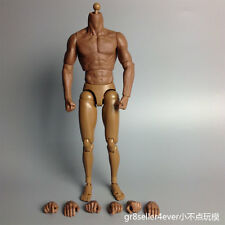 1/6 Scale Black Muscular Figure Body Similar to TTM19 For Hot Toys Head Sculpt