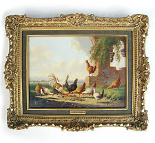 Old Dutch Master Albertus Verhoesen Poultry By A Ruin Oil MacConnal Mason