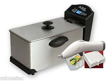AQUACHEF SOUS VIDE COOKER, VACUUM SEALER, GOURMET TORCH & TWO SOUSVIDE COOKBOOKS