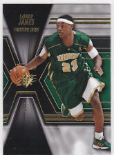 LeBRON JAMES High School IRISH BASKETBALL JERSEY CARD #23 Cavs Upper Deck SPX!
