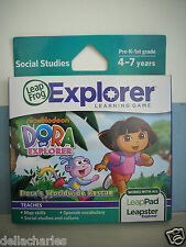 LEAP FROG EXPLORER DORA THE EXPLORER GAME LEARN LEAP PAD LEAPSTER GS NEW