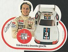 REEL TOYS CAR GILLES VILLENEUVE PORSCHE 935 MARTINI ORIGINAL STICKER AUTOCOLLANT