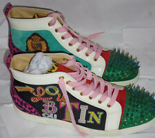 Homme Christian Louboutin Louis spikes high top sneakers multi color-taille 43