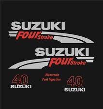 Adesivi motore marino fuoribordo Suzuki 40 hp four stroke