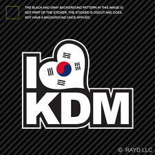 Korean Flag I Love KDM Sticker Decal Self Adhesive Vinyl korea korean