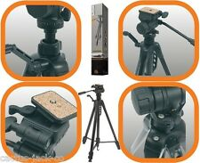NEW BLACK 1.65M MAX 1.77KG CAMERA TRIPOD WITH FLUID EFFECT 3 WAY PAN/TILT HEAD