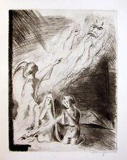 TOBIAS signierte Or.-Radierung 1925 WALTER WELLENSTEIN