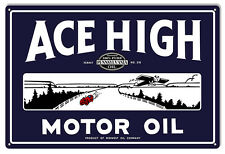 Ace High Motor Oil Sign 12X18