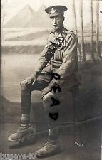 WW1 Soldier RGA Royal Garrison Artillery Driver Egypt Pyramids backdrop