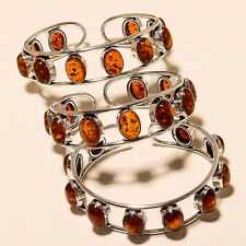 LOVELY  LOT 3P. 925  STERLING SILVER OVERLAY GEMSTONE BRACELET CUFF JEWELLERY