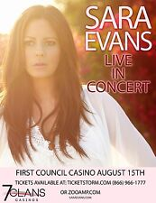 """SARA EVANS """"LIVE IN CONCERT"""" 2015 OKLAHOMA TOUR POSTER - Country Music"""