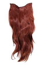 Haarteil - 7 Klammern, Halbperücke rot,rotbraun H9505-35 Clip In Extension 60 cm