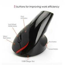 2.4G Wireless Ergonomic Vertical Optical USB Mouse Mice Wrist Healing Laptop PC