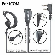 Earhook Earloop Earpiece For ICOM IC-F3001 IC-F4001 IC-F4011 Portable Radio