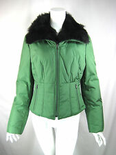 STRENESSE BLUE Green Down Filled Zip Front Puffer Coat Jacket Size 4