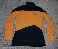 STAR TREK NEXT GENERATION MENS' UNIFORM SHIRT GOLD BLACK RANK PIPS MEN'S M