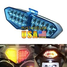 For Yamaha YZF R6 2003 2004 2005 Blue Chrome LED Turn Signal Tail Light US Ship