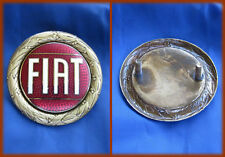 FIAT 124 SPIDER - STEMMA LOGO BADGE 57MM BORDO DORATO