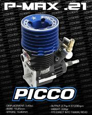 Picco P Series .21 MAX Nitro Truck Engine w/EZ-Start Backplate T-Maxx P-Max 4552