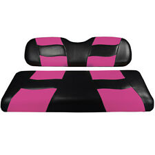 RipTide Black/Pink Two-Tone Front Golf Cart Seat Covers Club Car, EzGo, Yamaha