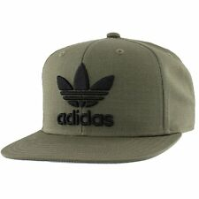 Agron Hats & Accessories Mens Originals Trefoil Chain Snapback Cap, Olive Cargo