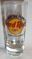 """Hard Rock Cafe New Orleans Shotglass 4"""" Tall 2 oz Classic Style Black Letters"""