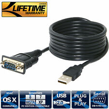 Adapter Cable USB 2.0 to Serial (9-Pin) DB-9 RS-232 6 ft. (CB-FTDI) Sabrent