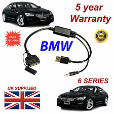 BMW 6 Series (611204407) For Apple 3GS 4 4S iPhone iPod USB & 3.5mm Aux Cable