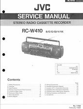 ,JVC Original Service Manual für RC-W 410