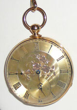 Pocket watch from year 1860, 18K key wind. Montandon Geneva