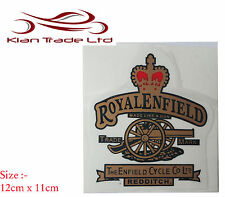NEW ROYAL ENFIELD RED CROWN & CANNON FUEL TANK TOP TOOL BOX  STICKER