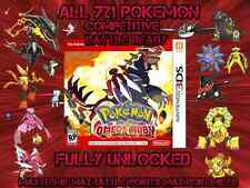 Unlocked Pokemon Omega Ruby All 721 Shiny All Items Max Money And More