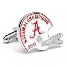 ALABAMA Crimson Tide 2011 NCAA Football National Champions helmet CUFFLINKS-MIB