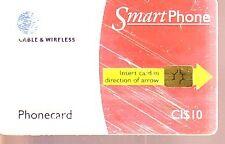 Telefonkarte Kayman Inseln starke Gebrauchsspuren (intern: 2191 )