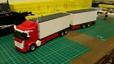LEGO CITY CUSTOM 6 WHEEL RIGID BOX TRUCK LONG VERSION WITH TRAILER   L@@K