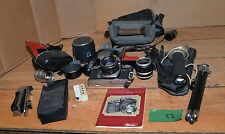 Ricoh camera manual lenses tripod flash vintage collectible photography lot