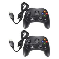 2 X Dual Shock Black Wired Game Pad Controller For Microsoft Original Xbox NEW!