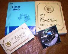 1974 Cadillac Shop Manuals Chassis Owners & Parts DeVille Eldorado Calais Body